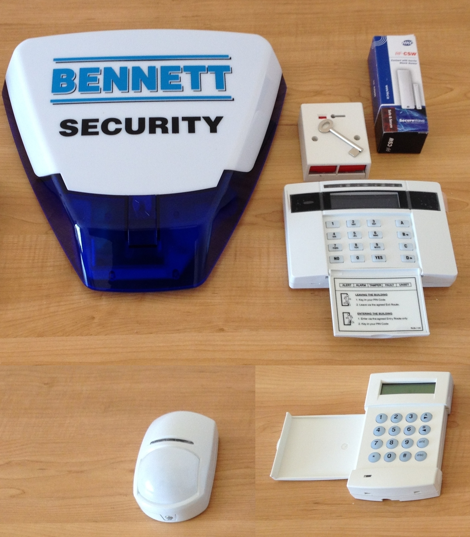 Intruder alarm equipment
